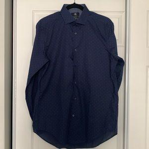 Calvin Klein buttoned down navy shirt